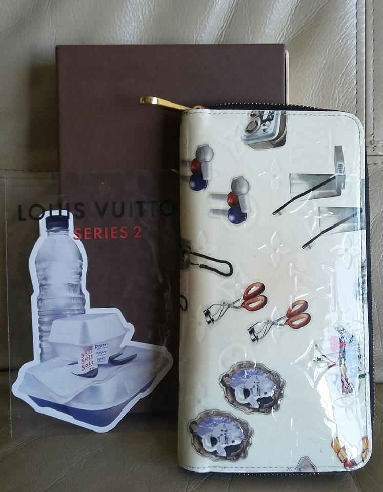 Louis Vuitton Limited Coating Stickers Zippy Iphone Walle Cream White Pearl  Monogram Purse Water Proof Scratch Resistance Shiny Vernis Special Treated