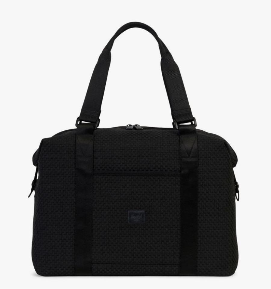 Gym Bag Herschel: Herschel Supply Co. Black Strand Woven Duffle Weekend