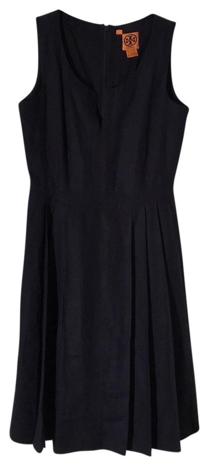 ce7050007b2 Tory Burch V-neck Linen Sleeveless Pleated Fit And Flare Dress Image 0 ...