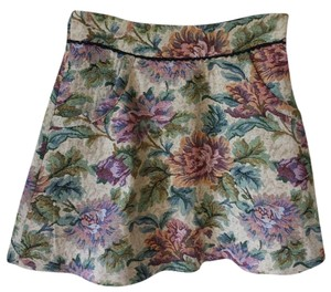 Free People Unique Flare Great Quality Mini Skirt Floral Multi