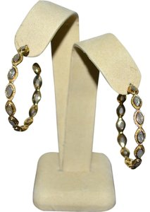 Melinda Maria MELINDA MARIA Gwyneth Large Hoop Earrings CZ Crystal Pods Sparkle
