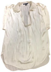 c2a0beac532d7 Vince Ivory Sleeve Collared V-neck Tunic Blouse Size 4 (S) - Tradesy