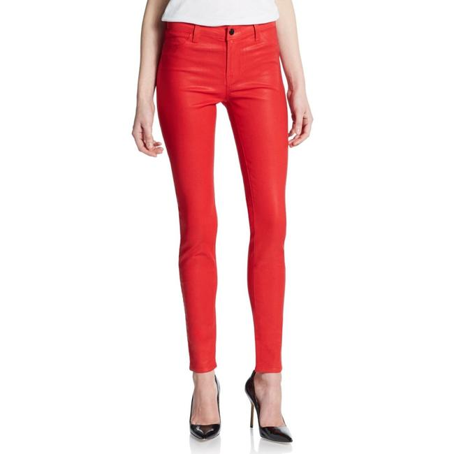 Item - Red Coated Super Red_#127-20 Skinny Jeans Size 27 (4, S)