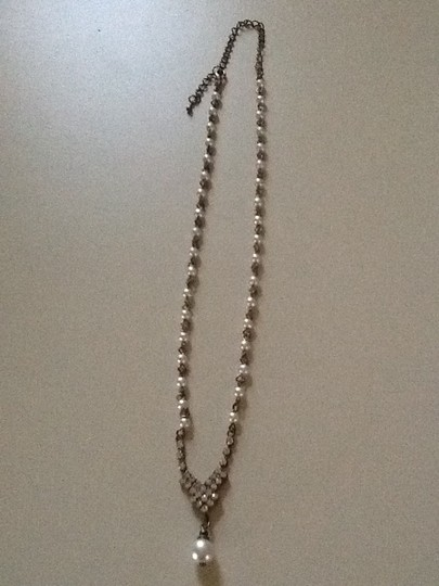 Other Pearl and Diamond Like Necklace