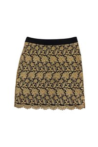 MILLY Lace Mini Skirt Gold