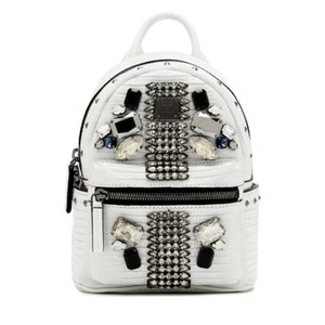 MCM Crocodile Leather Swarovski Backpack