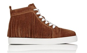Christian Louboutin High Top Fringe Brown Athletic