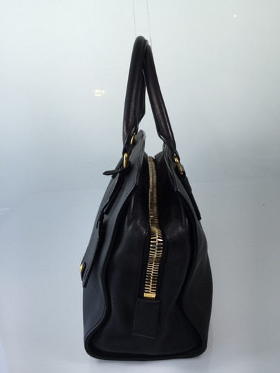 Tom Ford Lambskin Leather Gm Caviar Satchel in Black