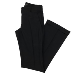 Theory Wool Work Fall Winter Flare Pants BLACK