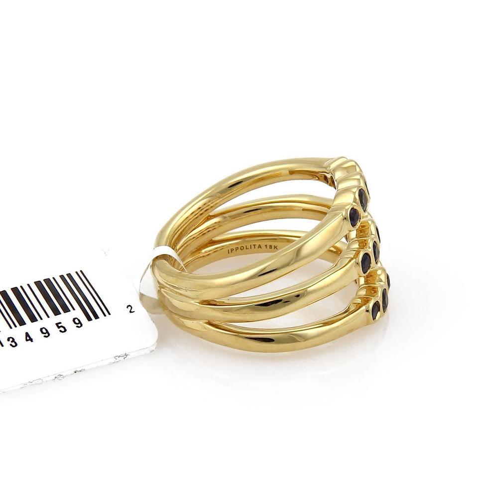 Nude gold triple band thumb ring