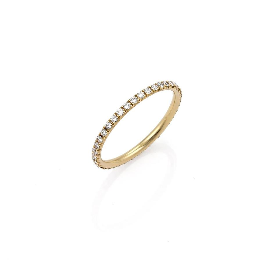 039124e69 Tiffany & Co. 21765. Metro Diamond 18k Yellow Gold Eternity Band Ring