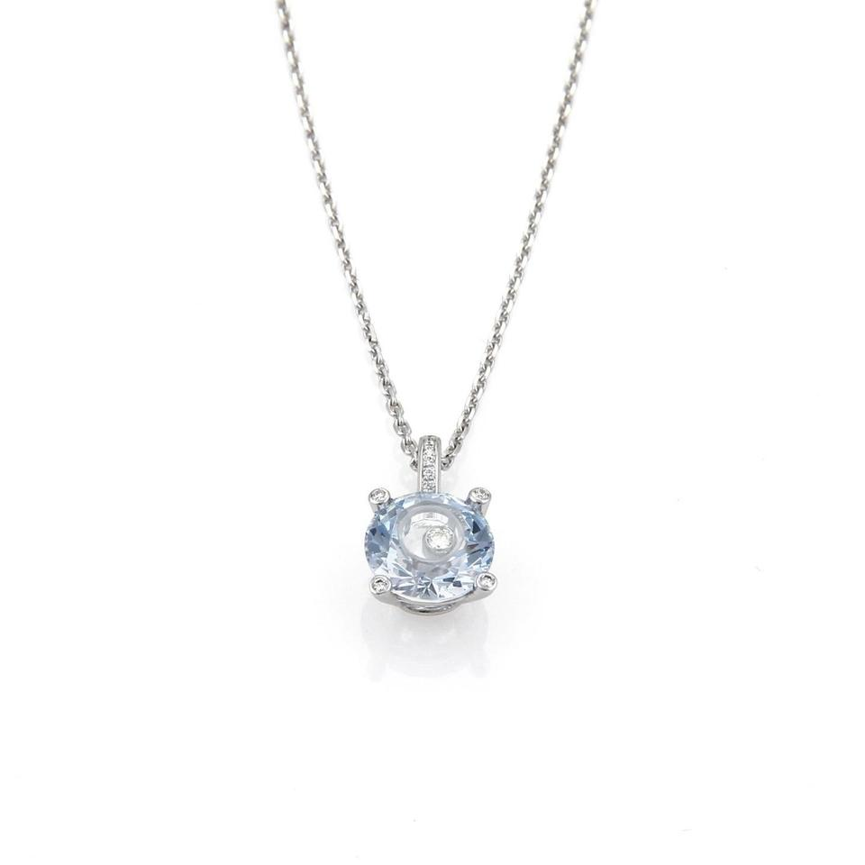 Chopard 21805 happy diamond blue crystal 18k gold round pendant chopard happy diamond blue crystal 18k gold round pendant necklace aloadofball Gallery