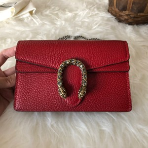 f4575a200c7f7 Added to Shopping Bag. Gucci Cross Body Bag. Gucci Dionysus New Super Mini  Rare Red Leather ...