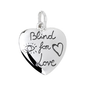 Gucci Gucci Blind for Love Silver Pendant