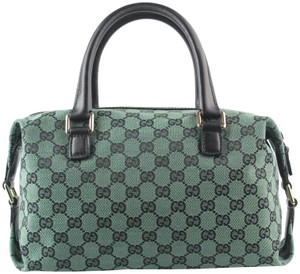 Gucci Gg Joy Boston Satchel in Green/Black