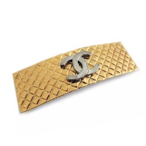 Chanel Gold Plated CC Hair Clip/Barrette