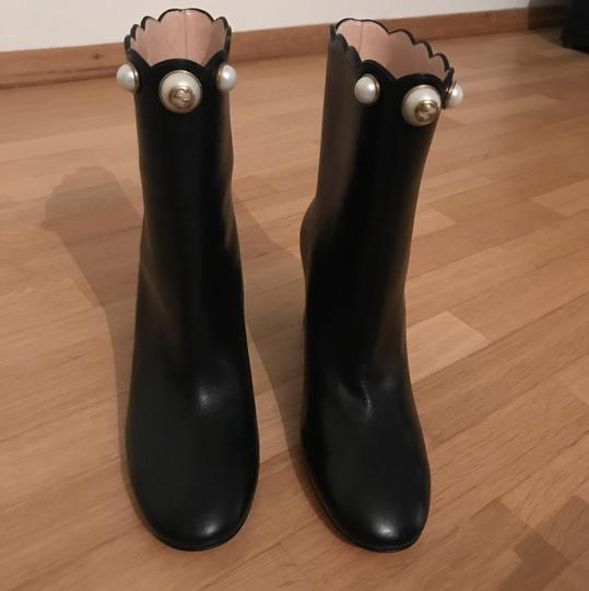 Gucci Gg Double G Ankle Pearl Black Boots