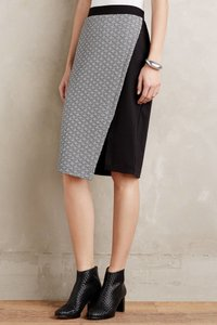 HD in Paris Anthropolgie Pencil Winter Skirt Black/White