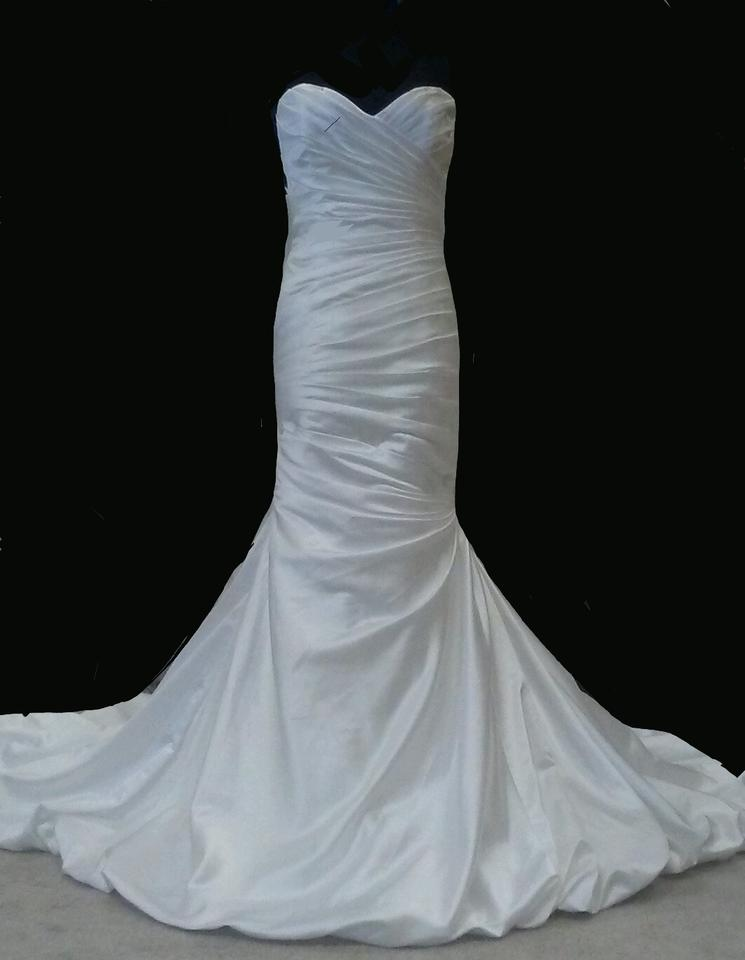 Maggie Sottero White Soft Satin Kendall 72633 Formal Wedding Dress ...