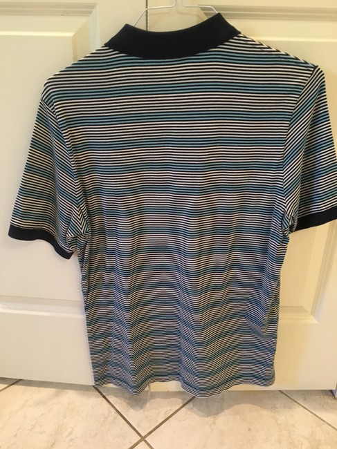 Lacoste blue striped men 39 s classic pique polo tee shirt for Lacoste stripe pique polo shirt