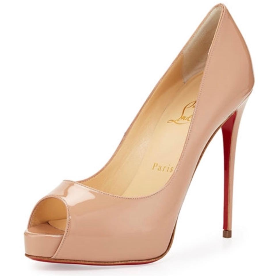f5be77e4a8c6 Christian Louboutin Nude New Very Prive Patent Pumps Size US 9 ...