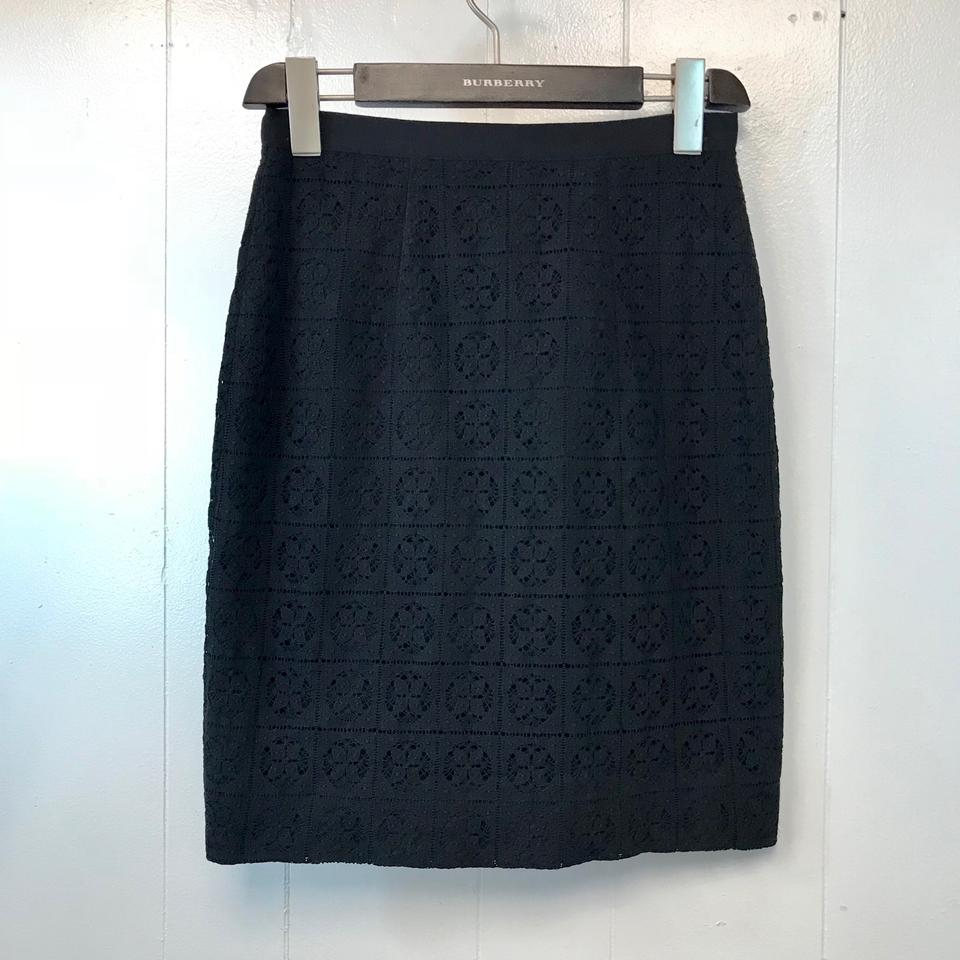 623d1ffbe1 Burberry Black London England Lace Overlay Pencil **msrp Skirt Size ...