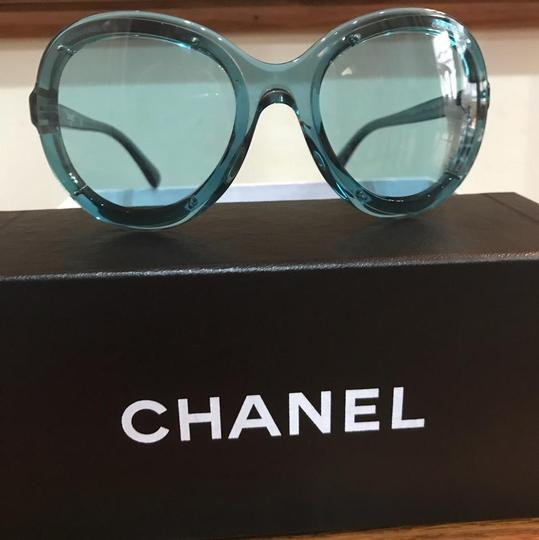 Chanel New with case podium jelly blue sunglasses