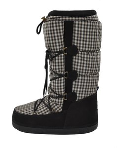 Moncler Leather Snow Winter Moon Black Boots