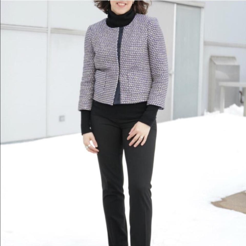 Navy Tweed Crew J Spring Jacket qTgw60Tnx