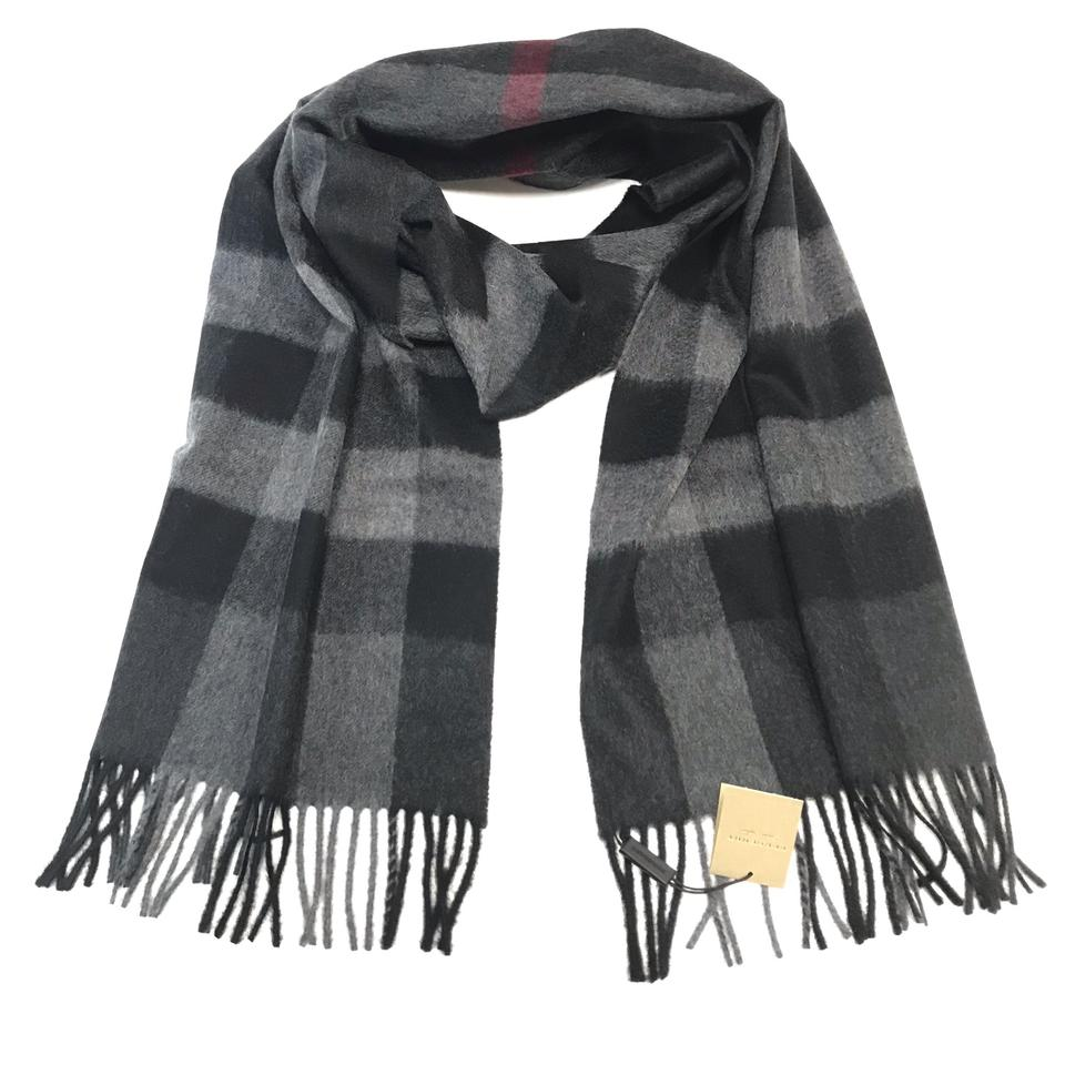 Burberry Charcoal Check The Large Classic Cashmere In Scarf Wrap ... a21cfdd8b3