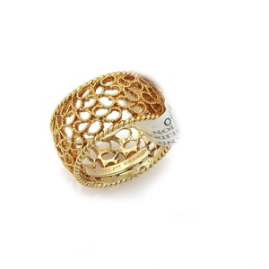 BUCCELLATI Filidoro 18k Gold Filigree 10.5mm Wide Dome Band Ring