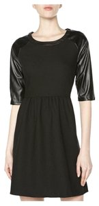 Romeo & Juliet Couture Faux Leather Faux Leather Sleeves Lbd Dress