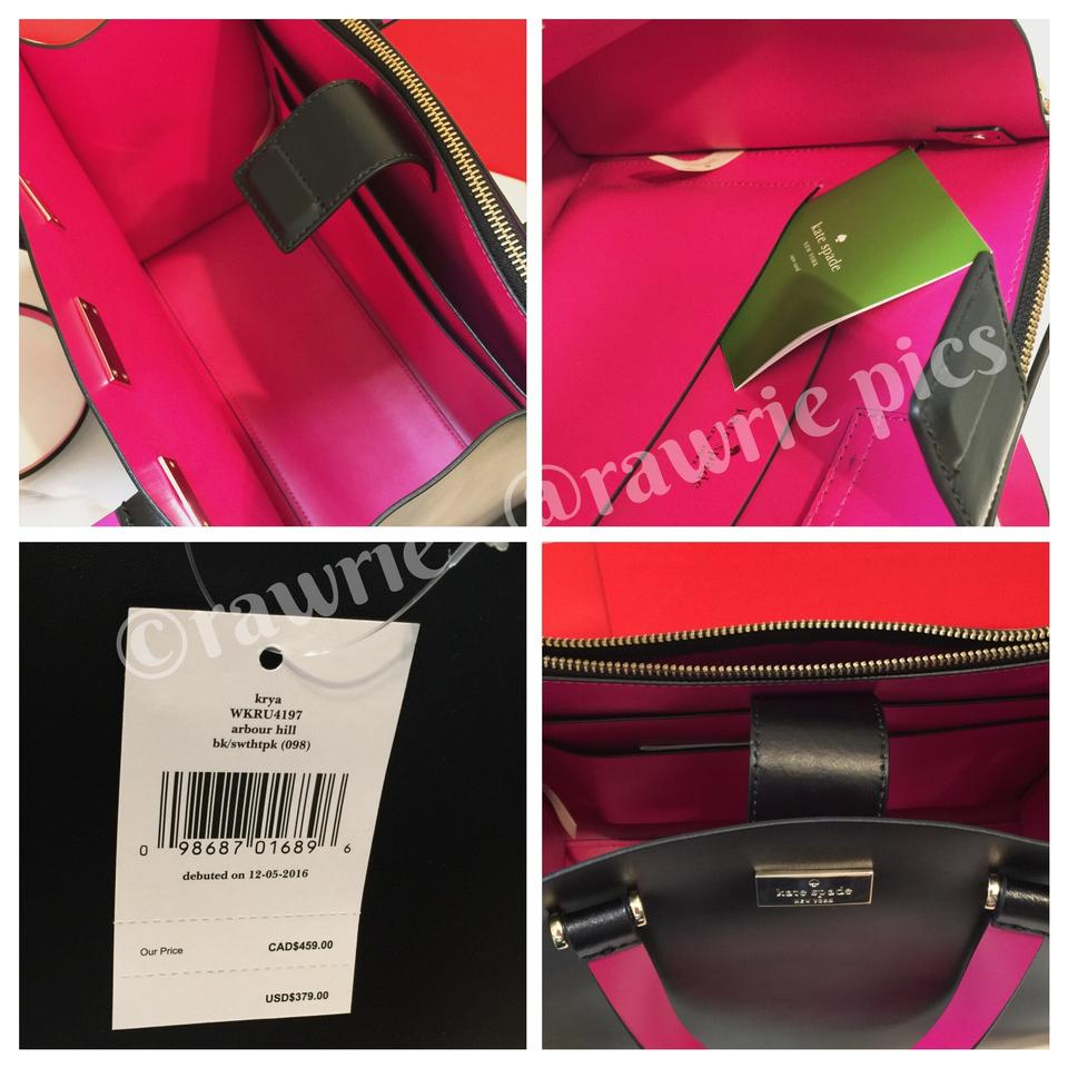 4bf7dba470fe Kate Spade Shoulder Strap Leather Pink Leather Smooth Leather Classic Tote  in Black Image 4. 12345