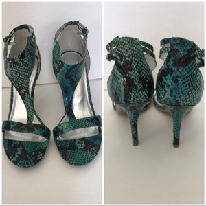 Impo Snakeskin Ankle Strap Sexy Heel Sandals