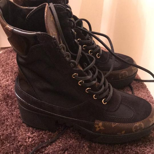 Louis Vuitton Desert Boots Black Confederated Tribes Of