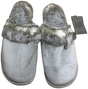 Restoration Hardware Restoration Hardware Faux LYNX Slippers