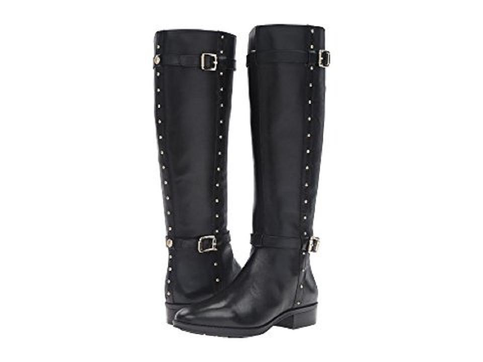 09cbe218eff Vince Camuto Black Preslen Studded Leather Tall Riding Boots/Booties Size  US 5.5 Regular (M, B) 48% off retail