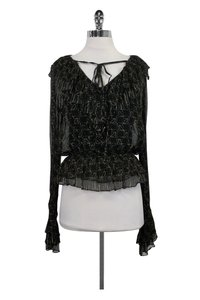 Robert Rodriguez Printed Top Black