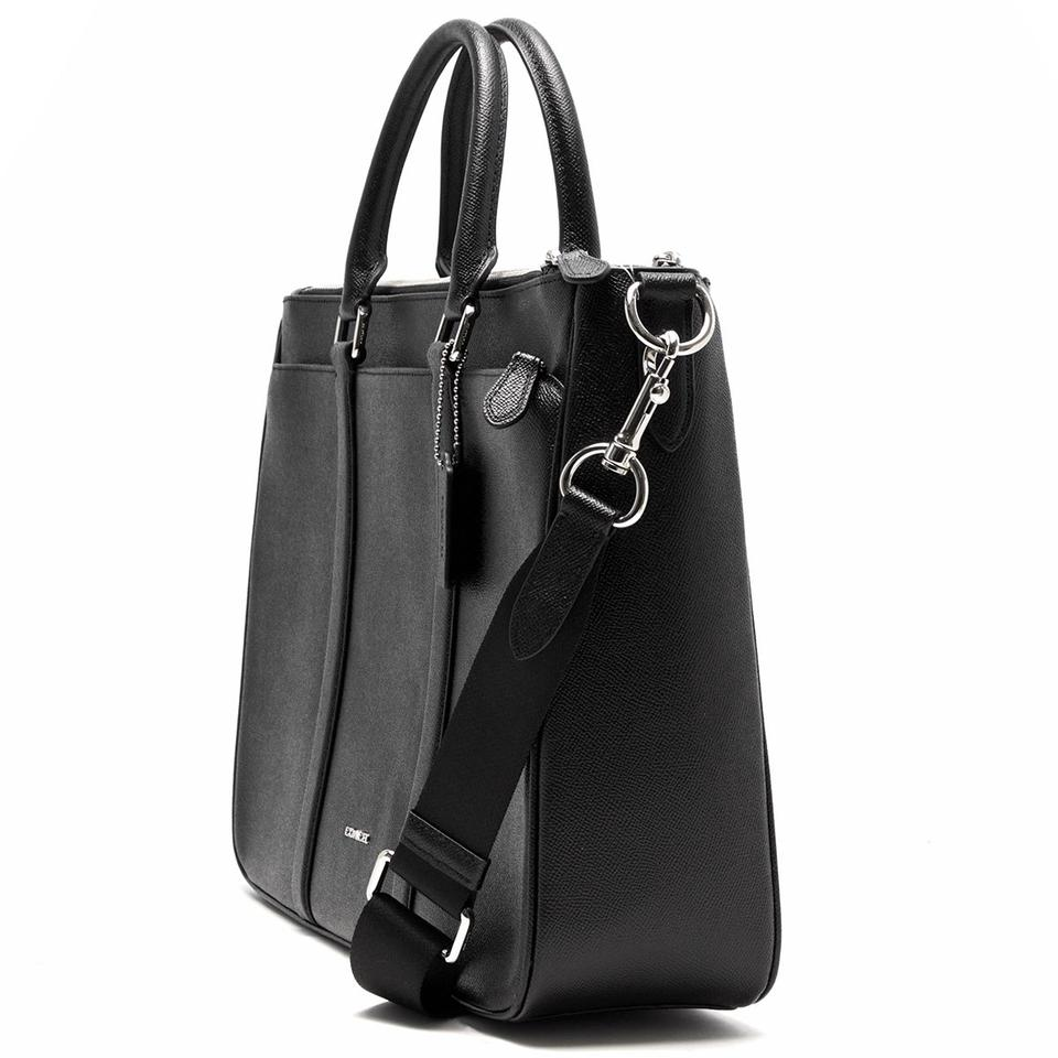ce28a2f77 Coach New Men Large Briefcase Business Brief Crossbody Black Leather Laptop  Bag - Tradesy