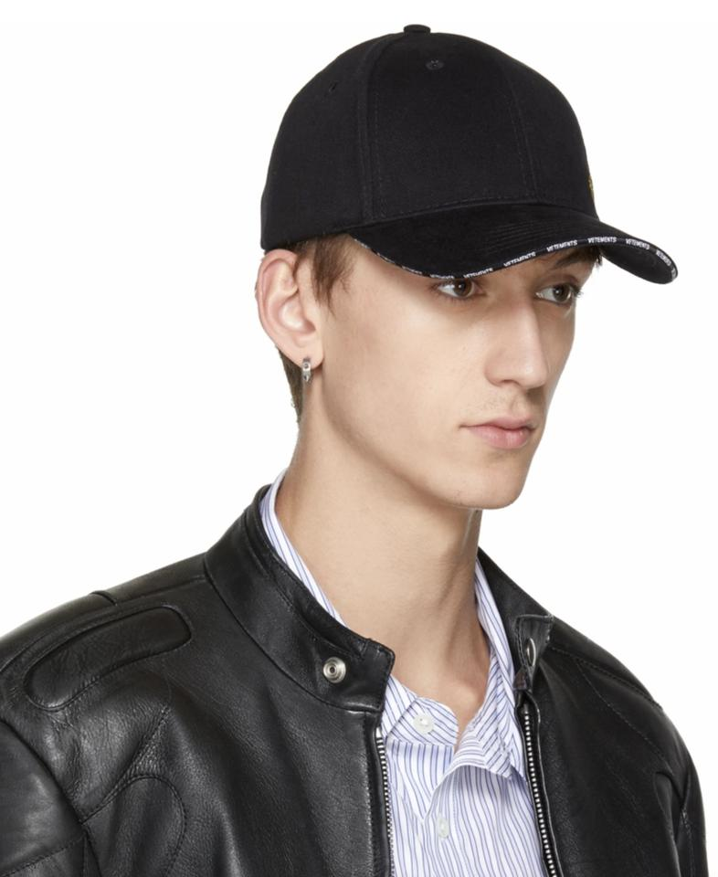 894676c060d472 Vetements Embroidered Euro Cotton Twill Baseball Hat Image 5. 123456