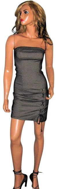 Item - Gray Strapless Tie S Short Night Out Dress Size 6 (S)