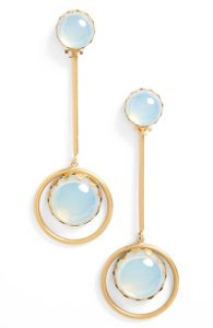 Tory Burch NEW!!! TAGS TORY BURCH PEARLESCENT GOLD MOON DROP EARRINGS NWT