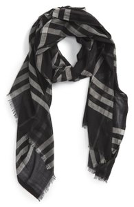 Burberry New Giant Check Print Wool & Silk Scarf