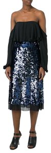 Tory Burch Sequin Sparkle Holiday Christmas Party Skirt Blue
