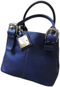 Tignanello Pebbled Leather Tophandle Royal Satchel in Blue