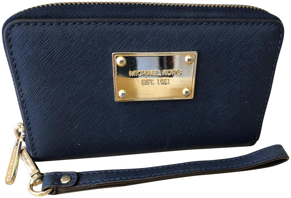 d0c78d0f29ef Michael Kors Wristlet Wallet Navy Blue | Stanford Center for ...