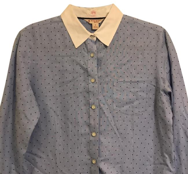 Preload https://item2.tradesy.com/images/brooks-brothers-blue-red-fleece-polka-button-down-top-size-8-m-22578621-0-1.jpg?width=400&height=650
