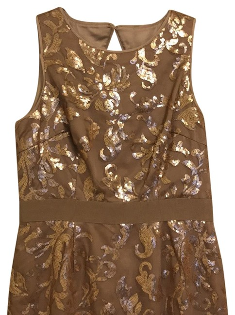 Preload https://item3.tradesy.com/images/vince-camuto-rose-gold-sequin-mid-length-cocktail-dress-size-6-s-22578642-0-1.jpg?width=400&height=650