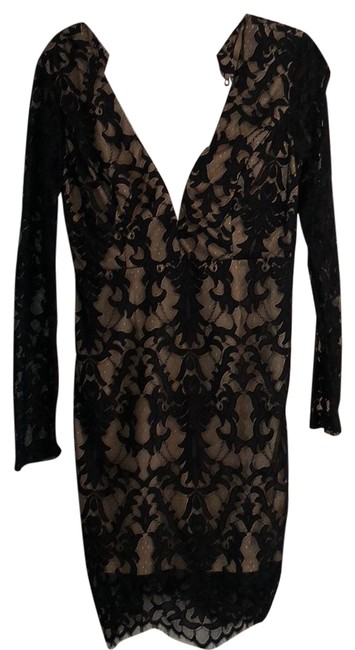 Item - Black and Nude Short Night Out Dress Size 12 (L)