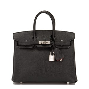 Hermès Satchel in Black and Rose Jaipur
